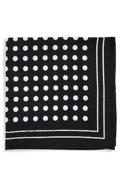 Topman - Polka Dot Print Pocket Square