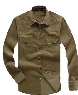 Fengbay  - Retro Corduroy Shirt Jacket