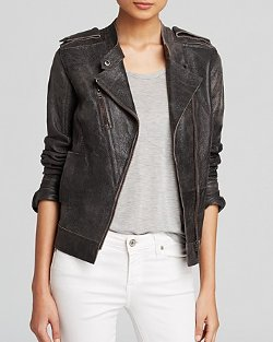 Moon & Meadow  - Leather Moto Jacket