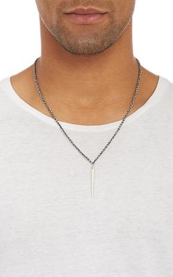 Suzanne Felsen - Silver Dagger Pendant Necklace