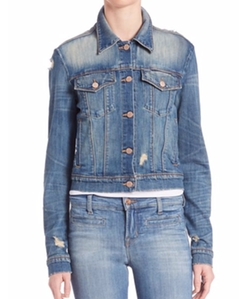 J Brand - Distressed Cropped Denim Jacket
