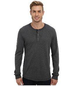 Lucky Brand  - Triblend Duofold Henley Shirt