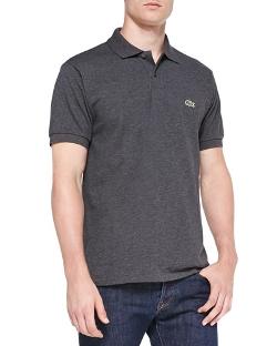 Lacoste   - Melange Pique Polo Shirt
