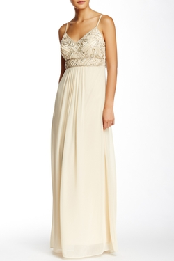 Sue Wong - Embroidered Chiffon Gown