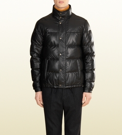 Gucci - Quilted Leather Down Jacket
