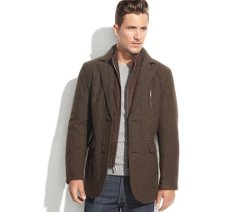 London Fog  - Wool-Blend Tweed Blazer