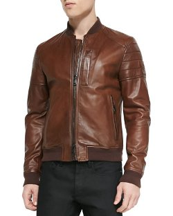 Belstaff - Tumbled Lightweight Leather Jacket