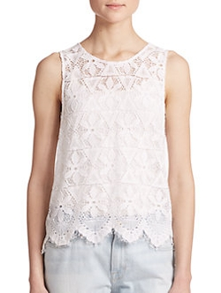Frame  - Le Lace Tank Top