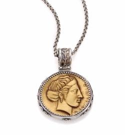 Konstantino  - Kerma Olympia Bronze & Coin Pendant