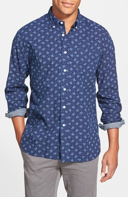 Grayers - Modern Fit Print Poplin Sport Shirt