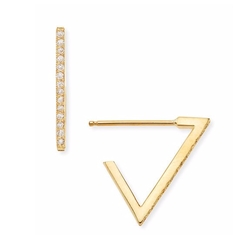 Zoe Chicco - Pave Diamond Triangle Earrings