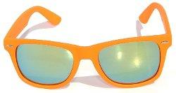 Wayfarer Style Sunglasses - Matte Retro Style Full Mirror Lens Sunglasses
