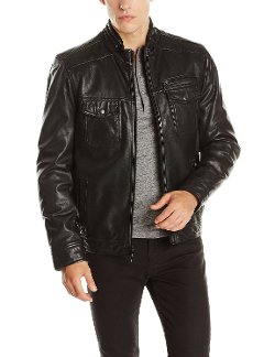 Kenneth Cole New York - Leather Moto Jacket