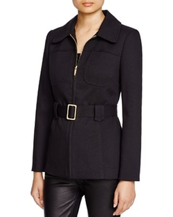 Vince Camuto - Belted Twill Jacket