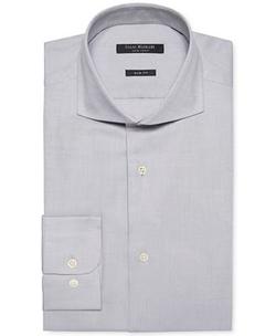 Isaac Mizrahi - Pique Solid Dress Shirt