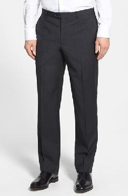Pal Zileri - Flat Front Wool Trousers