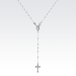Shane Co. - Sterling Silver Y Shaped Cross Necklace