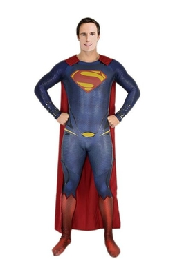 thecostumebase - Superman MOS Man of Steel Jumpsuit Costume Puffy Paint