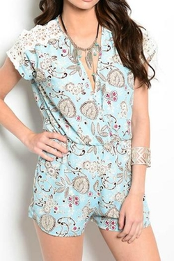 Pretty Little Things - Paisley Lace Romper