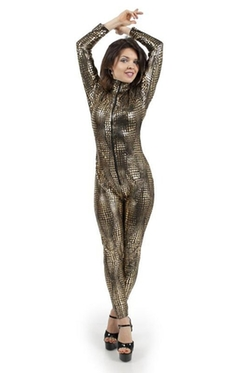 I-Glam - Snake Skin Print Jumpsuit