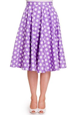 Hell Bunny - Mariam Polka Dot Circle Skirt