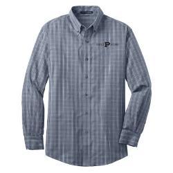 Slant P Alumni - Tattersall Easy Care Shirt - Gray White