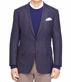 Brooks Brothers - Plaid Rust Deco Sport Coat