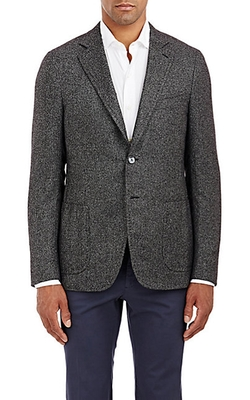 Isaia - Tweed Two-Button Cortina Sportcoat
