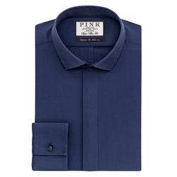 Thomas Pink - Wilford Plain Slim Fit Button Cuff Shirt