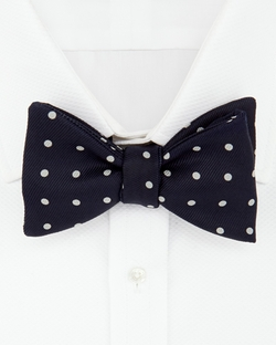 Turnbull & Asser - Churchill Polka Dot Bow Tie
