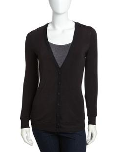 BELLA LUXX - V-Neck Knit Cardigan