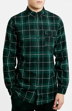 Topman  - Longline Plaid Shirt