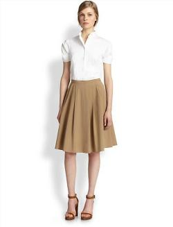 Michael Kors  - Stretch Cotton Poplin Dance Skirt