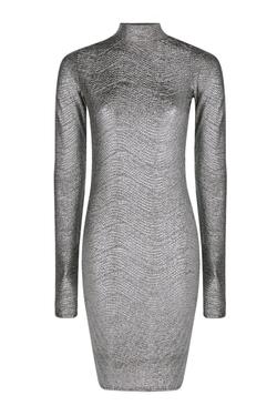 Boohoo - Claire High Neck Bodycon Dress