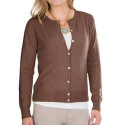 In Cashmere - Pointelle Cardigan Sweater