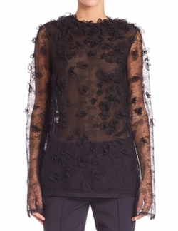 Jason Wu - Embroidered Houndstooth Lace Top