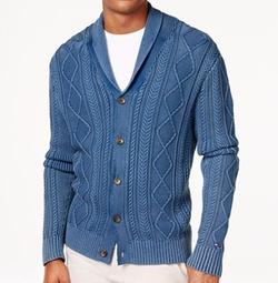 Tommy Hilfiger - Nathaniel Cable-Knit Fisherman Cardigan