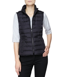 Burberry Brit - Twin Needle Quilted Zip-Front Gilet