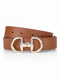 Talbots - Novelty Buckle Reversible Belt