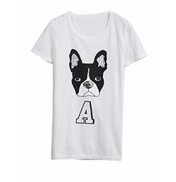 Tokyo Fashon - Dog and Letter Print Tee