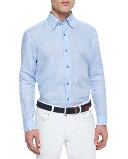 Ermenegildo Zegna - Solid Linen Sport Shirt