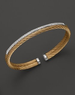 Charriol Classique Collection - Nautical Cable Bangle with Diamonds