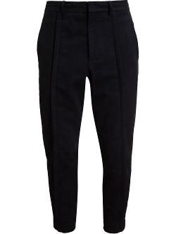 Ann Demeulemeester  - Cropped Herringbone Trousers