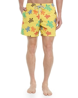Vilebrequin - Moorea Turtle-Print Swim Trunks