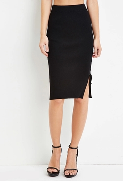 Forever 21 - Lace-Up Side Bodycon Skirt