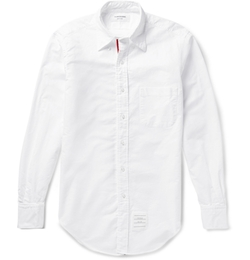 Thom Browne - Button-Down Collar Cotton Oxford Shirt