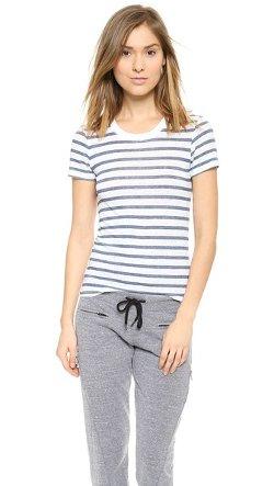 Monrow  - Frenchie Stripe Mini T-Shirt