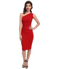Stop Staring - Gathered Ava One Shoulder Dress
