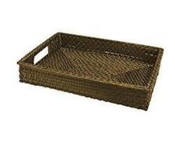 Front Of The House - Brown Rattan Tray