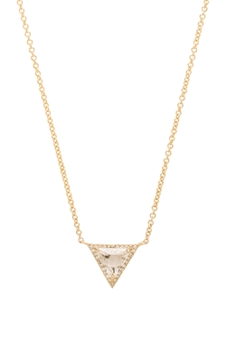 Sachi - Triangle White Topaz Necklace